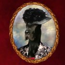 Great Dane Jewelry Brooch Handcrafted Ceramic - Retro Lady