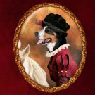 Greater Swiss Mountain Dog Jewelry Brooch Handcrafted Ceramic - Tudor Lady