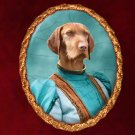 Vizsla Jewelry Brooch Handcrafted Ceramic - Blue Lady
