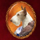 Ibizan Hound Jewelry Brooch Handcrafted Ceramic - Hunter