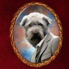 Irish Glen of Imaal Terrier Jewelry Brooch Handcrafted Ceramic - Gentleman