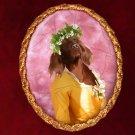Irish Setter Jewelry Brooch Handcrafted Ceramic - Yellow Lady