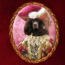 Irish Water Spaniel Jewelry Brooch Handcrafted Ceramic - Noble Lady