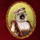Keeshond Jewelry Brooch Handcrafted Ceramic - Countess