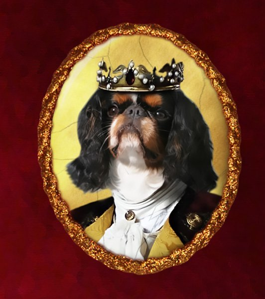 King Charles Spaniel Jewelry Brooch Handcrafted Ceramic - King