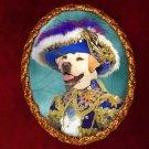 Labrador Retriever Jewelry Brooch Handcrafted Ceramic - Blue Pirate