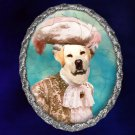Labrador Retriever Jewelry Brooch Handcrafted Ceramic - Duke Silver Frame