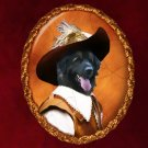 Leonberger Jewelry Brooch Handcrafted Ceramic - Musketeer