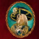 Lhasa Apso Jewelry Brooch Handcrafted Ceramic - Riche Pirate
