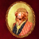 Nova Scotia Duck Tolling Retriever Jewelry Brooch Handcrafted Ceramic - Middle Age Lady