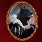 Schipperke Jewelry Brooch Handcrafted Ceramic - Flemish Lady