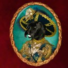 Scottish Terrier Jewelry Brooch Handcrafted Ceramic - Pirate