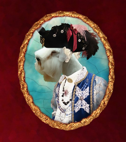 Sealyham Terrier Jewelry Brooch Handcrafted Ceramic - Count