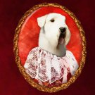 Sealyham Terrier Jewelry Brooch Handcrafted Ceramic - Countess