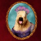 Softcoated Wheaten Terrier Jewelry Brooch Handcrafted Ceramic - Lady