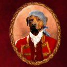 Rhodesian Ridgeback Jewelry Brooch Handcrafted Ceramic - Red Baron