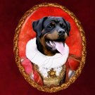 Rottweiler Jewelry Brooch Handcrafted Ceramic - Queen
