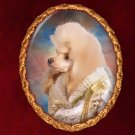 Poodle Jewelry Brooch Handcrafted Ceramic - Queen