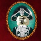 Standard Poodle Jewelry Brooch Handcrafted Ceramic - Baron
