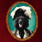 Standard Poodle Jewelry Brooch Handcrafted Ceramic - Black Duke
