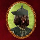 Portuguese Water Dog Jewelry Brooch Handcrafted Ceramic - Pirate