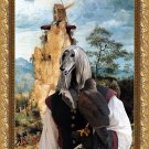 Afghan Hound Fine Art Canvas Print - Falconer and Windmill