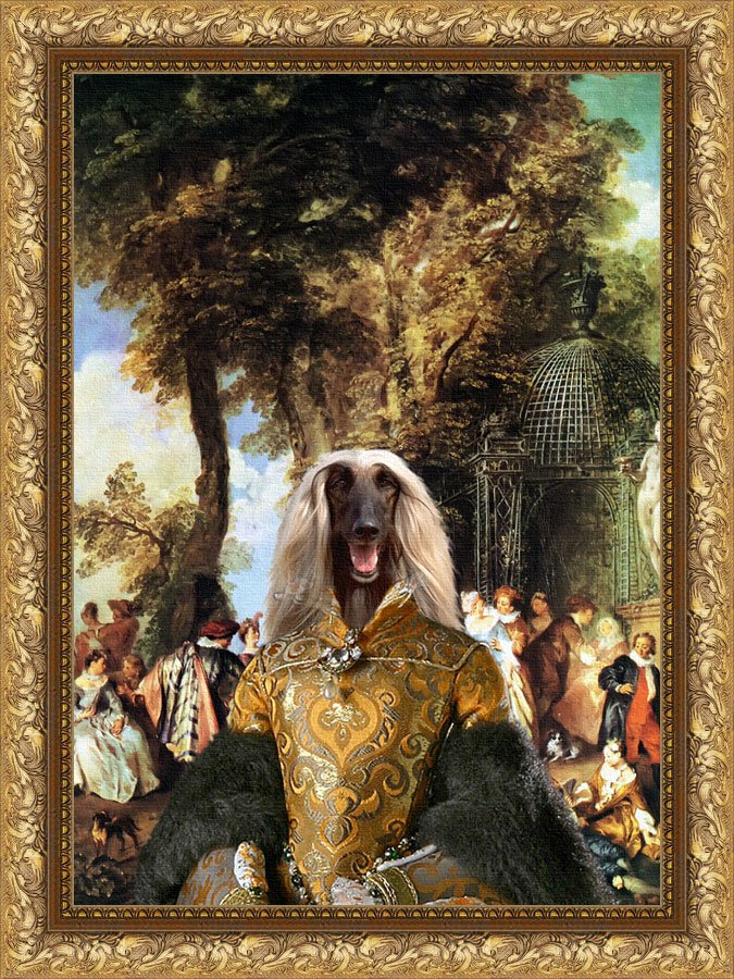 Afghan Hound Fine Art Canvas Print - The Winch
