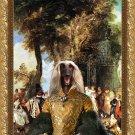 Afghan Hound Fine Art Canvas Print - The Winch