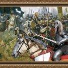 Afghan Hound Fine Art Canvas Print - Win or die !!!