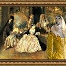 Afghan Hound Fine Art Canvas Print - At the Artdealer's Shop