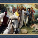 Borzoi Fine Art Canvas Print - The Road for Babel