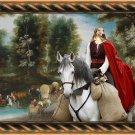Borzoi Fine Art Canvas Print - Middle Age Pheasant