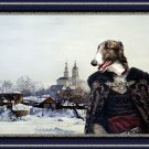 Borzoi Fine Art Canvas Print - Prince in the winter landscape