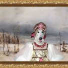 Borzoi Fine Art Canvas Print -  New snow on the road