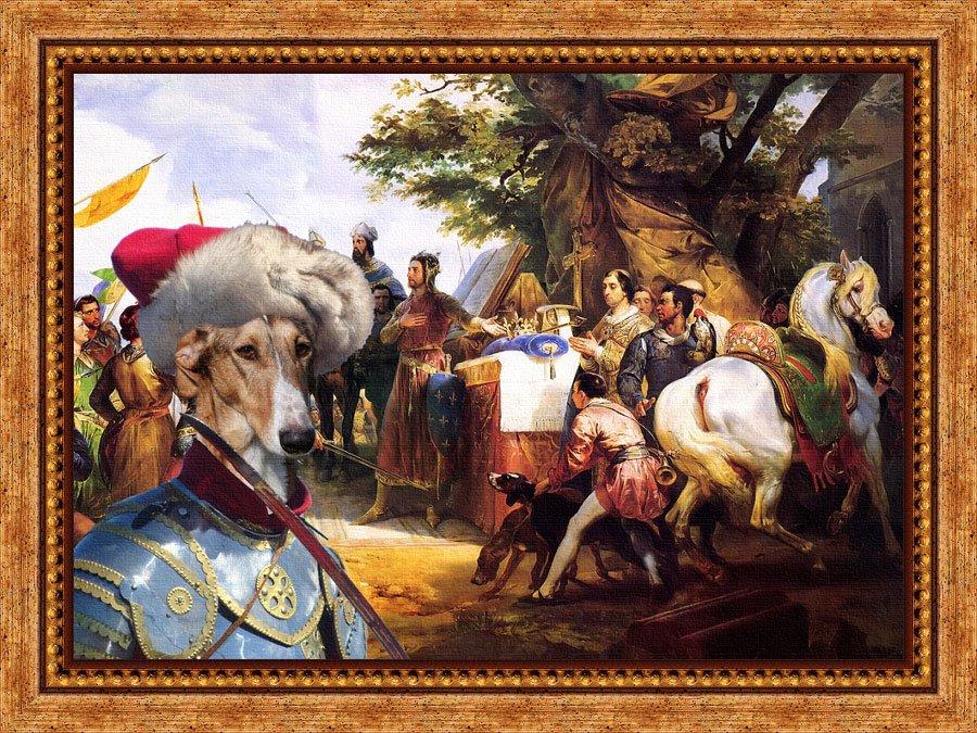 Chart Polski Fine Art Canvas Print - My King