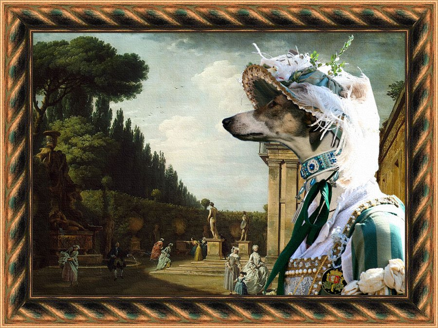 Chart Polski Fine Art Canvas Print - The afternoon promenade in Rome