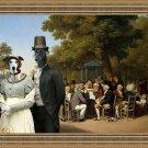 Greyhound Fine Art Canvas Print - Politicians in the Tuileries Gardens