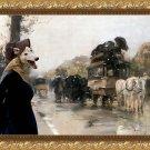 Greyhound Fine Art Canvas Print - Waiting carriage