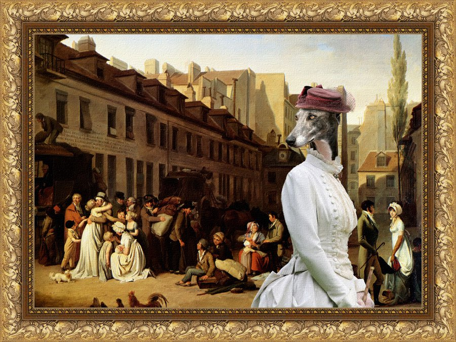 Greyhound Fine Art Canvas Print - Bon Voyage