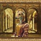 Greyhound Fine Art Canvas Print - Queen in Palace