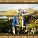 Greyhound Fine Art Canvas Print - Hussar bring last news