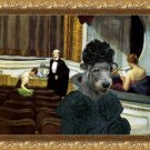 Irish Wolfhound Fine Art Canvas Print - Intermezzo in the theater
