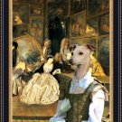 Italian Greyhound Fine Art Canvas Print - At the artdealer's shop