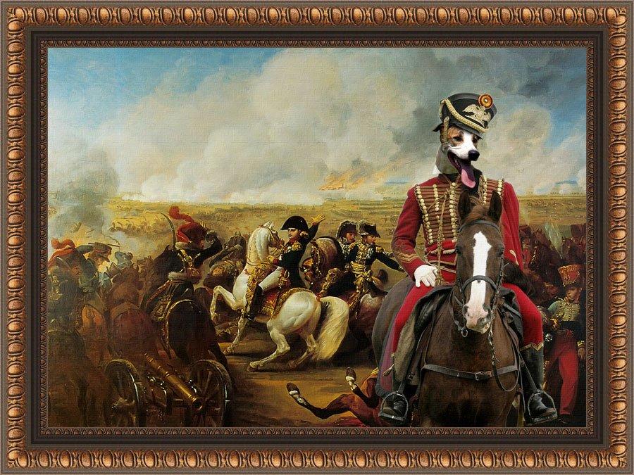 Hungarian Greyhound Fine Art Canvas Print - Bataille de Wagram