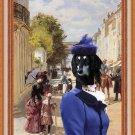 Saluki Fine Art Canvas Print - A Summer's Day Nancy