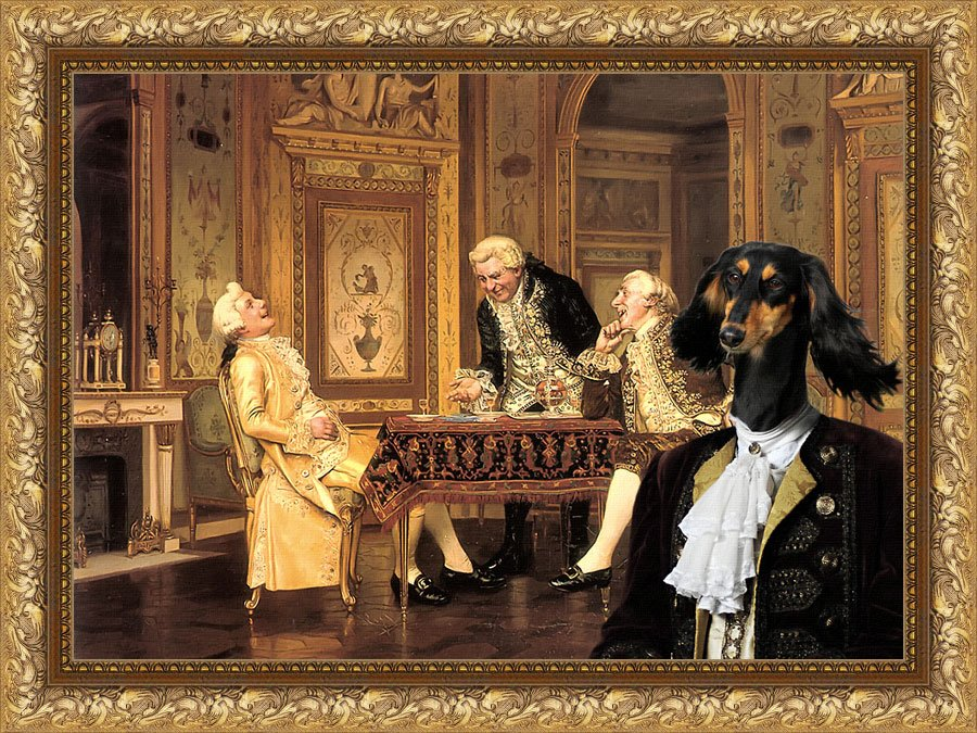 Saluki Fine Art Canvas Print - An Amusing Retort