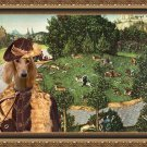 Saluki Fine Art Canvas Print - Deer's Hunt