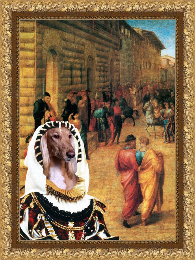 Saluki Fine Art Canvas Print - Lady Knight