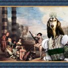 Saluki Fine Art Canvas Print - Optional afternoon Play