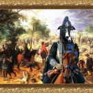 Spanish Greyhound Fine Art Canvas Print - The fight of the Cavalery